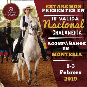 criadero_el_astro Queremos que nos acompañen en la próxima 🥇Válida de Chalanería en la ciudad de Montería, los días 1,2 y 3 de Febrero.👍 Estaremos acompañando a las👧👦 Amazonas y Chalanes más destacados. 🐎no te pierdas esta oportunidad de disfrutar en familia los caballos del Paso Fino Colombiano.
